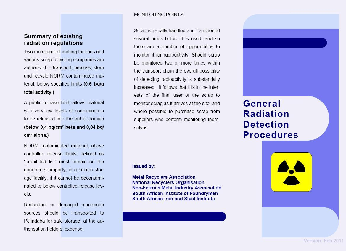 General radiation detection procedures